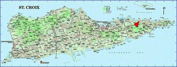 where coakley bay is on st croix map